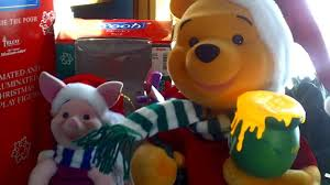 Winnie The Pooh Rocking Chair Telco Motionettes Of Christmas Winnie The Pooh And Piglet Animated