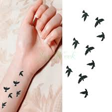waterproof temporary tattoo sticker fly birds tattoo fresh small