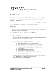 ks3 skellig by david almond teachit english