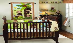 Monkey Crib Bedding Sets Cool Hanging Beds Unique Baby Boy Nursery Ideas Baby Boy Monkey