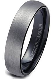 Mens Gunmetal Wedding Rings by 4mm 6mm 8mm Unisex Titanium Wedding Band Rings In Comfort Fit