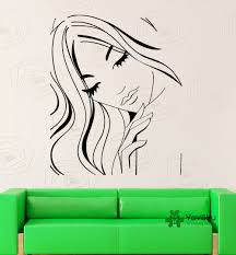 soft woman face wall decal home fashion decorate wall stickers soft woman face wall decal home fashion decorate wall stickers salon girls series wall murals wall sticker newly murals t 19 in wall stickers from home