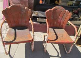 Vintage Patio Furniture Metal by 205 Best Vintage Metal Lawn Chairs Images On Pinterest Outdoor
