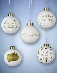 lecker weihnachtskugeln weiß gold 5er set weihachtsidee