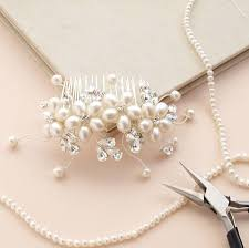 wedding accessories uk dew pearl hair comb flower hair accessories ivory pearl bridal