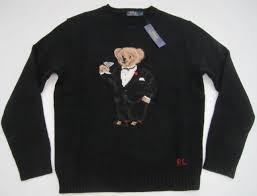 ralph sweater l polo ralph tuxedo martini teddy wool sweater mens ebay