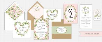 Wedding Stationery Whimsical Floral Hippy At Wedding Stationery Truly