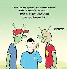 twizler funny card for teenager with alien and star trek reference