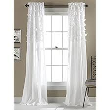 White Window Curtains Lush Decor Window Panel 84 By 54 Inch Ivory