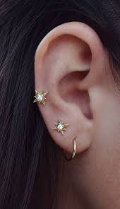 earrings for second starry earrings shiny piercings and