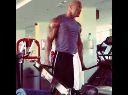 The Rock Gym Memes - dwayne johnson the rock workout instagram video 2013 youtube