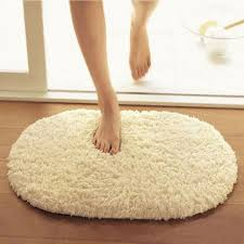 Oval Bath Rugs Stylish Beige Oval Bath Rug With Laminate Floor For Modern