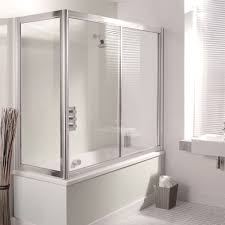 18 over bath shower screen with end panel white tidyaway storage simpsons supreme 1700mm overbath slider