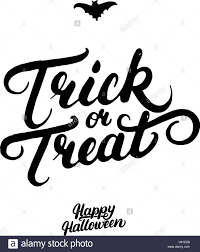 trick or treat hand written lettering modern brush calligraphy