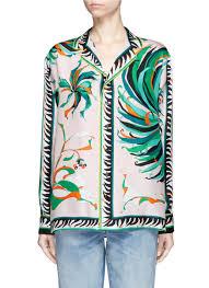 emilio pucci cactus flower print silk pyjama shirt emiliopucci