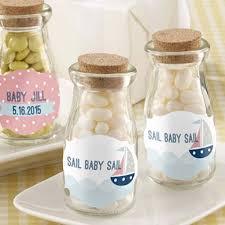 favor jars personalized baby shower vintage milk favor jars