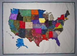 map quilt usa patchwork map quilt pattern from quilts by sized