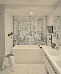 futuristic corner bath and shower combined with led lighting ideas decorative bath and shower combined with patterned curtain door ideas