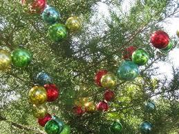 ornaments lot miniature feather tree glass balls