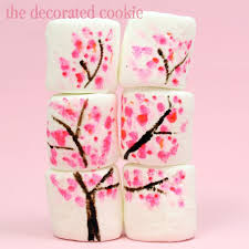 cherry blossom marshmallow pops and candy