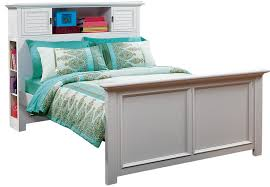 belmar white 3 pc full bookcase bed beds white