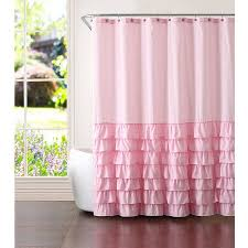 Pink And Orange Shower Curtain Better Homes And Gardens Pink Ruffles 13 Piece Shower Curtain Set
