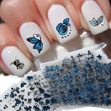 24pcs lot 3d nail sticker tree leaf butterfly flora pattern