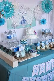 Blue Snowflakes Decorations Frozen Birthday Party Free Frozen Printable