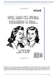 Sarcastic Memes - audio facebook funny ecard coloring book sarcastic memes to color