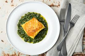 cuisine salsa halibut with salsa verde