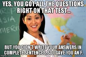 Meme Sentences - unhelpful high school teacher meme imgflip