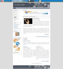 blue leaves u2013 d4j blog template joomla templates professional