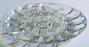 glass egg plate federal glass