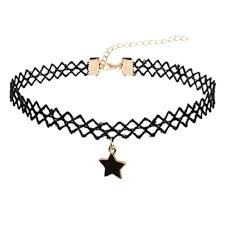 tattoo choker necklace aliexpress images Floweralight black lace five pointed star tattoo choker necklace jpg