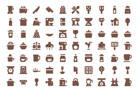 275 kitchen utensils material icons creative stall