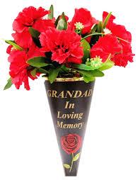 memorial graveside ornament flower holder plant pot vase