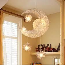 leuchten schlafzimmer moderne led kronleuchter beleuchtung mond sterne süße