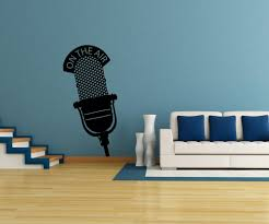ontheair vinyl wall decal sticker on the air microphone os mb809