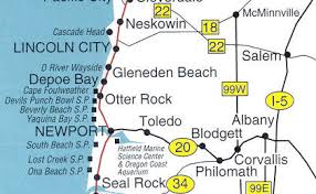 lincoln city map d river wayside lincoln city oregon coast