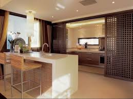 glass kitchen design with sliding door