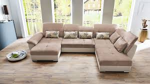 couch u form ecksofa braun kunstleder new manhattan funktionssofa m bluetooth