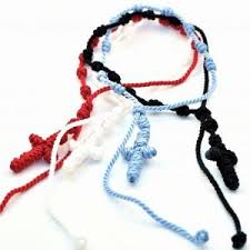 knotted rosary how to make knotted cord rosary bracelet myshoplah