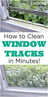 how to clean dirty window tracks and window screens too