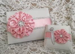 quinceanera guest book pink ivory satin wedding guest book quinceanera guest