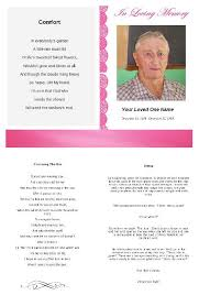 how to make funeral programs how to make a funeral program in word tomu co