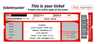 brilliant example of international concert ticket template with