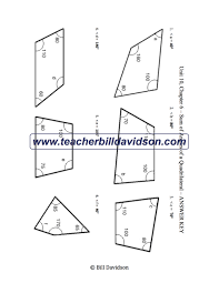 sum of angles in a quadrilateral worksheet u2014 the davidson group
