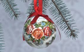 decoupage christas baubles easy to make tutorial diy