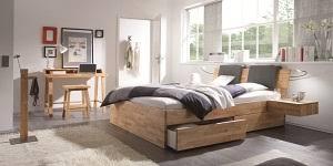 chambre en bois meubles haut de gamme pour la chambre lit chevet commode en bois