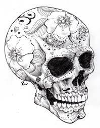 skull drawings sugar skull ping by pingriff traditional art